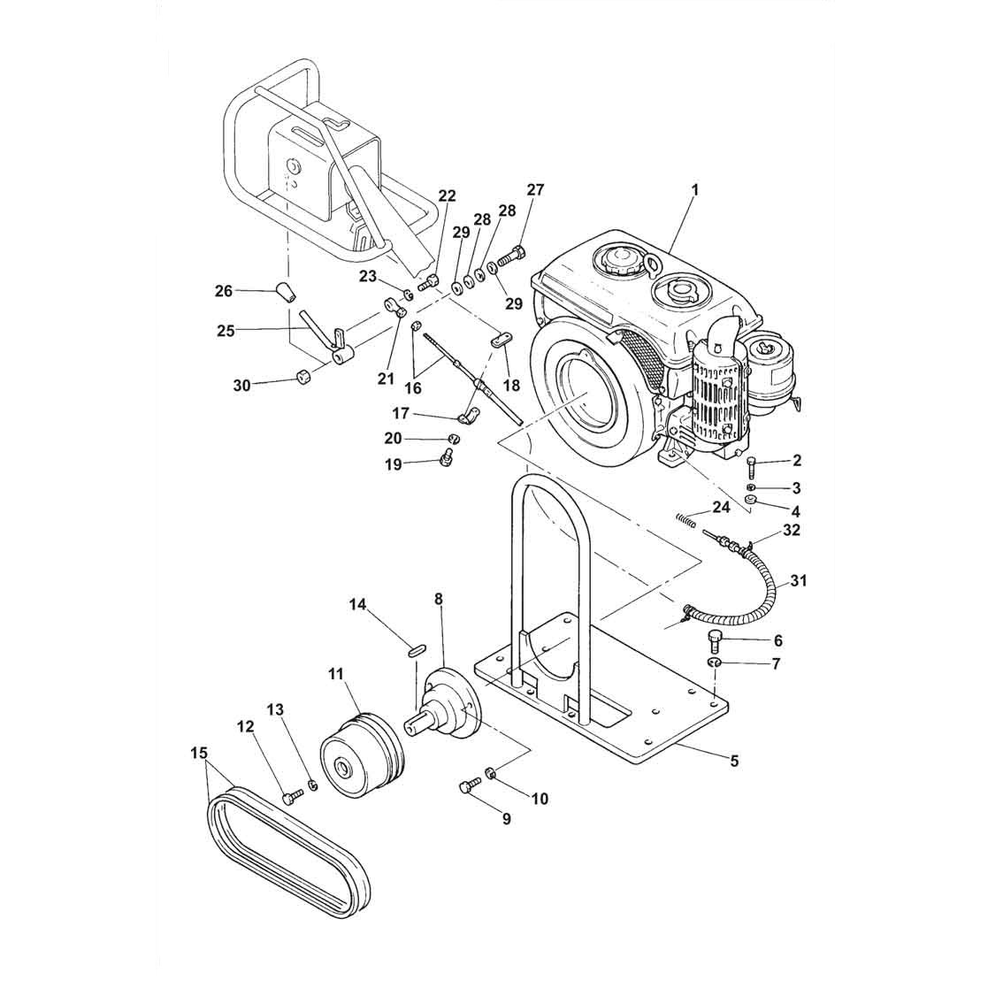 Belle BWR650 EA300 Roller Parts