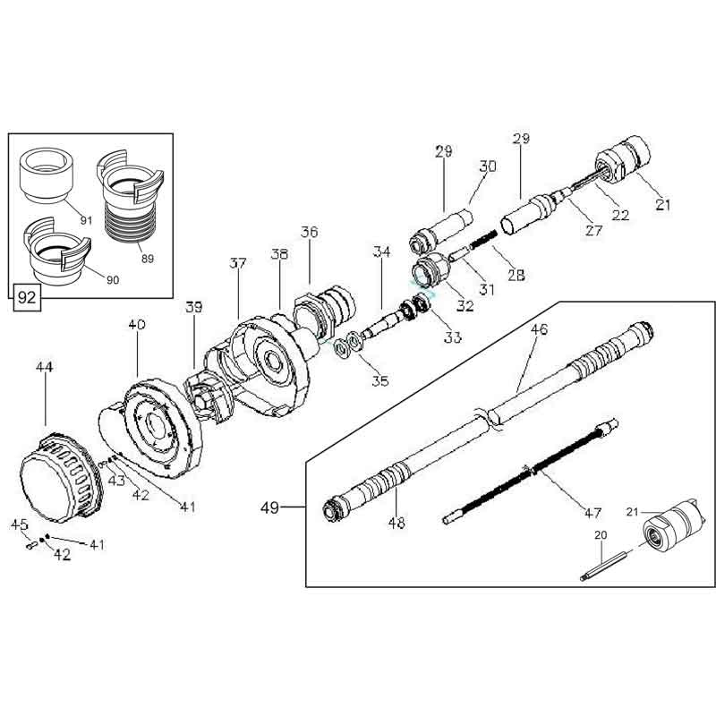 Belle BGA 68mm 5M Pump Parts