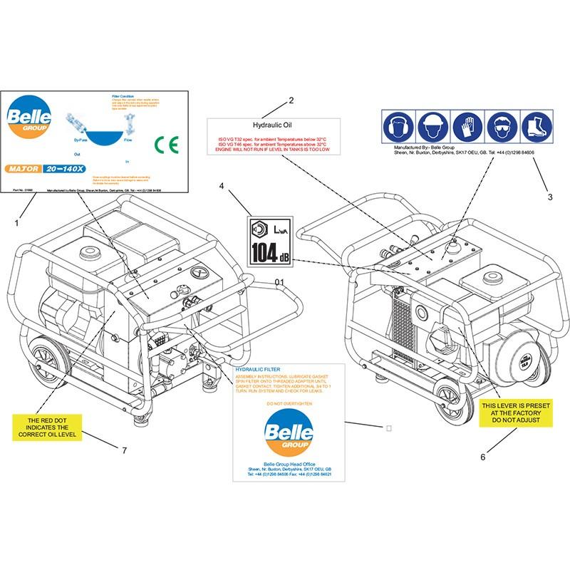 HPP08 Major30 140 Decals Parts 03-09-09
