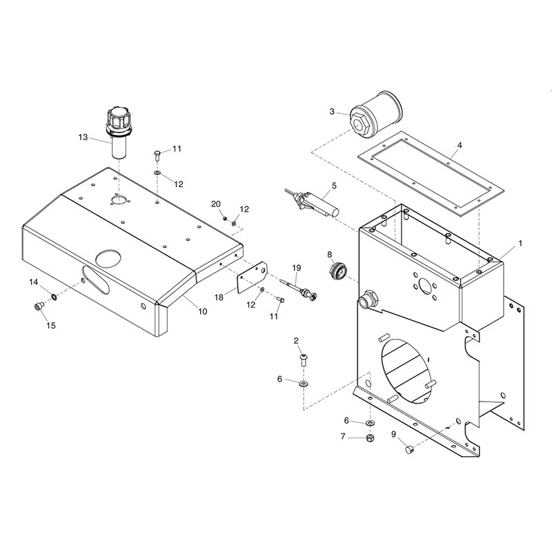 HPP08 Major30 140 Tank Parts 04-09