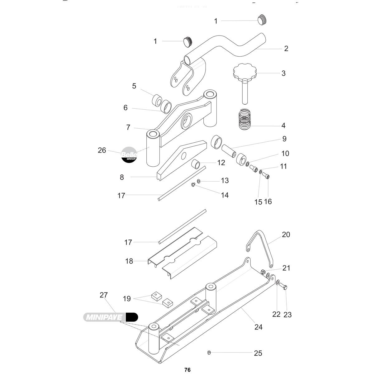 Minipave Block Splitter Parts