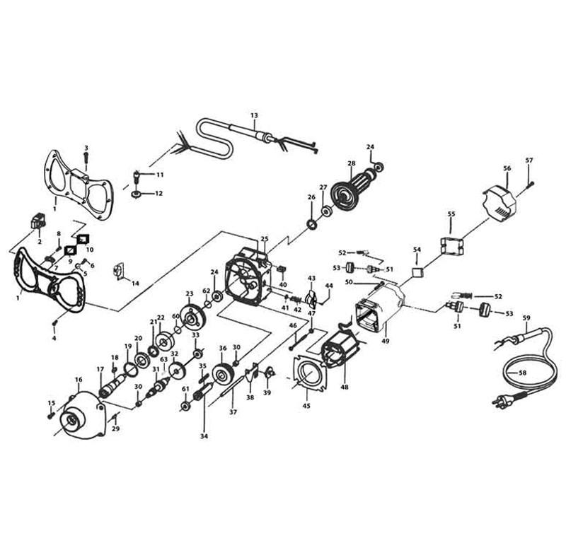Promix 1600E Concrete Mixer Parts