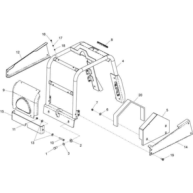 Belle RPC 30 50 Honda Frame Plate Compactor Parts | AltradParts.com