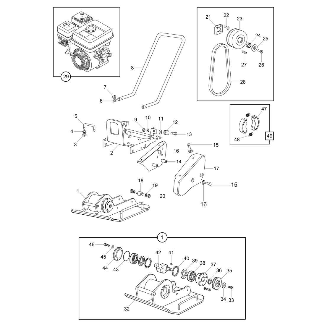 Belle SF 460 Plate Compactor Parts