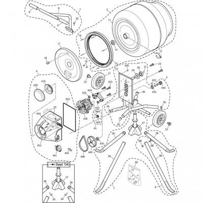 Minimix 130 Concrete Mixer Parts