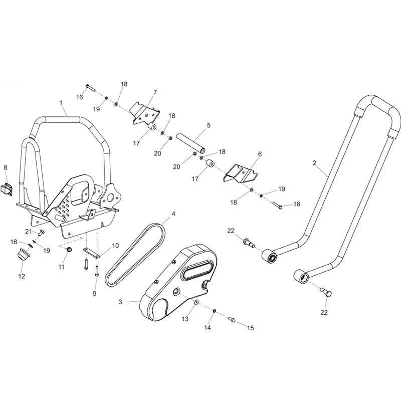 Belle Pclx320 Plate Compactor Parts