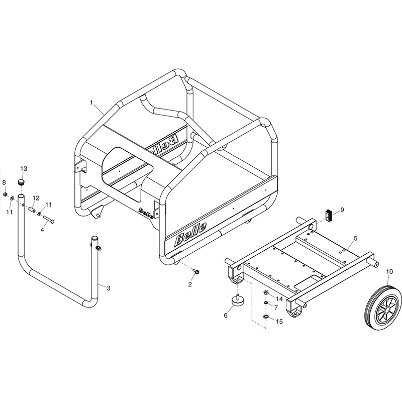 belle hpp02 midi20 140 hydraulic power packchassis hydraulic power pack parts